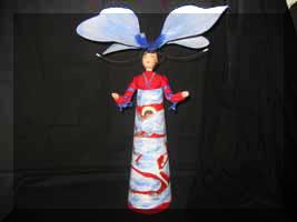 «Сон» - напольная кукла-шкатулка. Холст, роспись, лепка. Высота 57см.