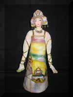 «Москва-декоративная» - декоративная кукла по мотивам Лентулова.